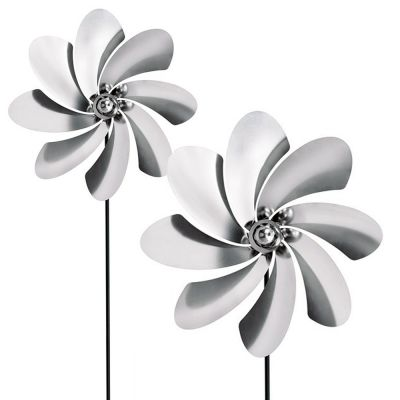 2x Outdoor Stainless Steel Pinwheels: BLOMUS VIENTO C SET
