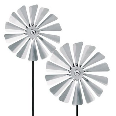 2x Outdoor Stainless Steel Pinwheels: BLOMUS VIENTO T SET