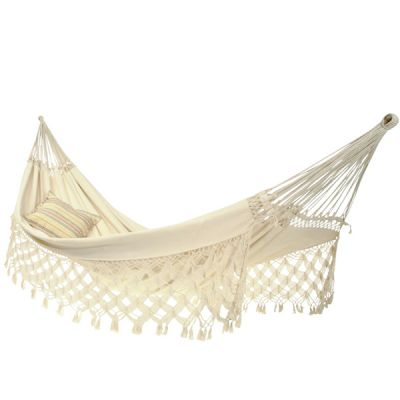 Brazilian XXL Hammock: RIO FAMILY NATURA (Pillow NOT included)