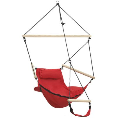 Outdoor/Indoor Hanging Chair: SWINGER RED