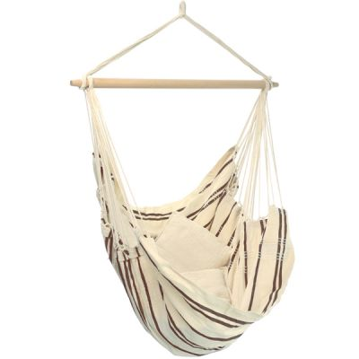 XL Hammock Hanging Chair: BRASIL CAPPUCINO (Pillows NOT included)
