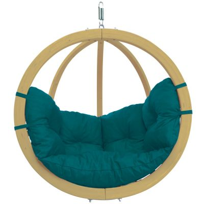 Outdoor & Indoor Hanging Chair: GLOBO CHAIR GREEN (Teal)