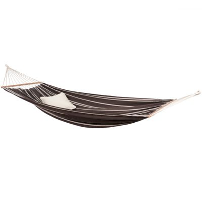 Brazilian XL Hammock with Bars: BRASILIA MOCCA (Pillow NOT included)