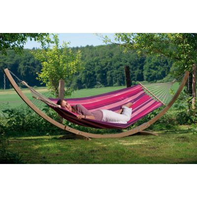Outdoor/Indoor Hammock with Bars & Stand: STARSET CANDY