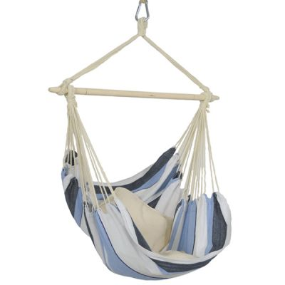Outdoor/Indoor Hammock Hanging Chair: HAVANNA MARINE (Pillow NOT included)