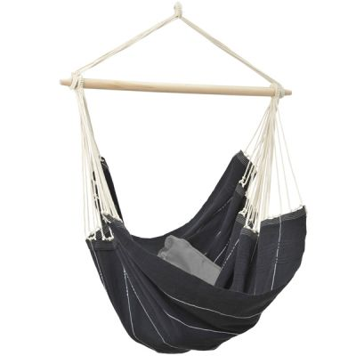 XL Hammock Hanging Chair: BRASIL BLACK (Pillow NOT included)