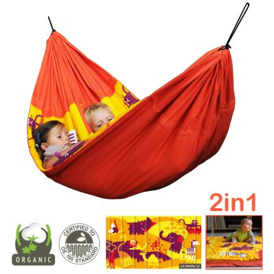 2in1 -Organic Hammock for Kids+Play Blanket: ANIMUNDO AFRICA