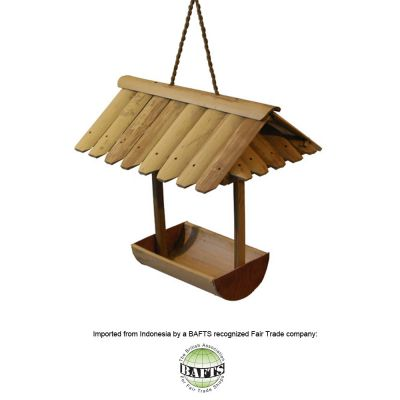 Handmade Eco Bird Feeder: FAIRTRADE BAMBOO