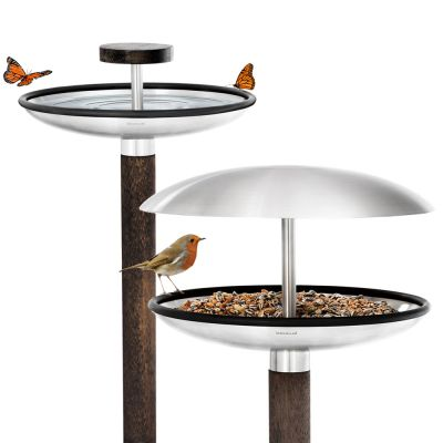 Outdoor Stainless Steel Bird Feeder / Bird Bath: BLOMUS FUERA (Please Note: The price shown is for just one product w/ 2 config. options included)