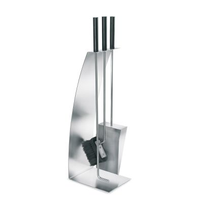 Blomus Chimo: 4 piece stainless steel fireplace tool set