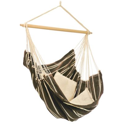 XL Hammock Hanging Chair: BRASIL MOCCA (Pillows NOT included)