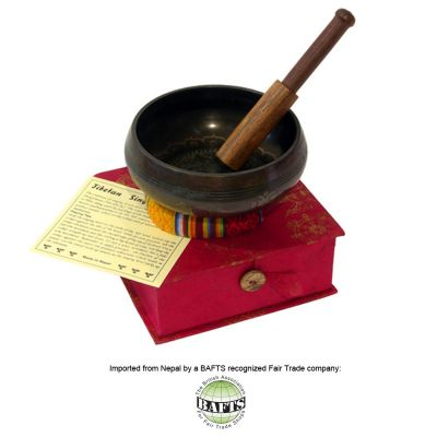 Fair Trade Tibetan Singing Bowl <570g>: BUDDHA MANDALA