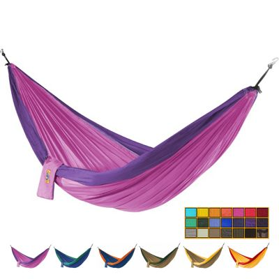 Outdoor/Camping Parachute Silk Nylon Hammock: TICKET TO THE MOON 2C - PINK+PURPLE