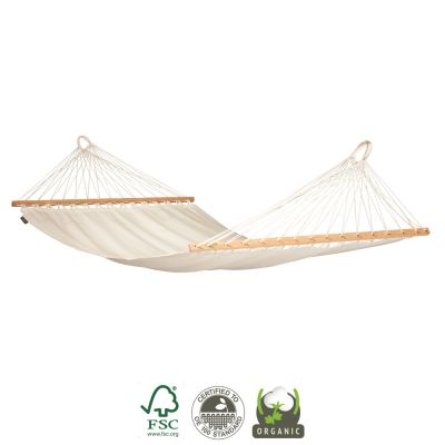 Colombian Organic Hammock with Bars: MODESTA ÉCRU B