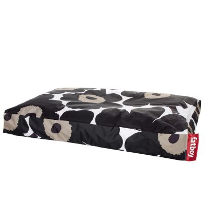Dogs Bean Bag Bed: FATBOY-MARIMEKKO UNIKKO BLACK DOGGIELOUNGE