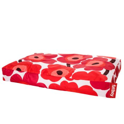 Dogs Bean Bag Bed: FATBOY-MARIMEKKO UNIKKO RED DOGGIELOUNGE