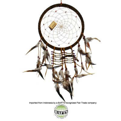 Fair Trade Handmade Dreamcatcher -Large: EARTH SHAMAN