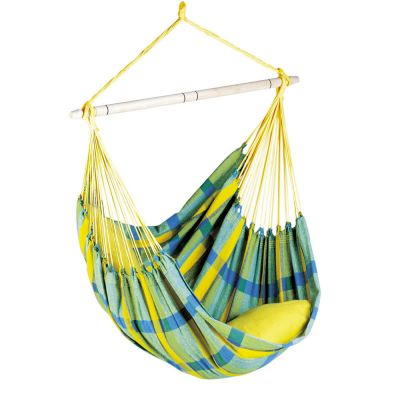 XL Hammock Hanging Chair: BRASIL LEMON (pillow not included)