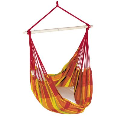 XL Hammock Hanging Chair: BRASIL PAPAYA (pillow not included)