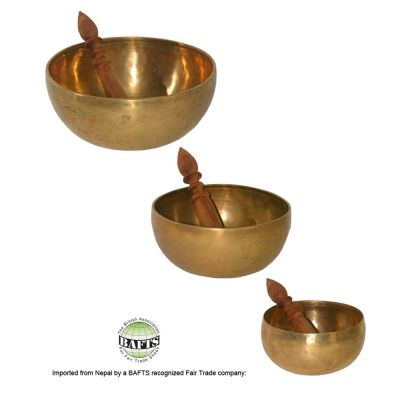 Fair Trade Tibetan Singing Bowl <500g/1Kg/1,5Kg>: HAND-BEATEN