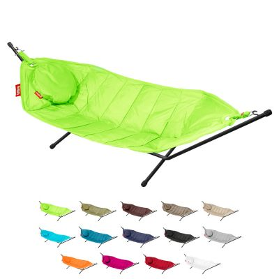 Outdoor Hammock with Stand+Pillow: FATBOY HEADDEMOCK - Lime Green
