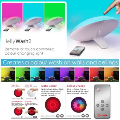Colour Changing LED Light Projector: MATHMOS/YANTOUCH JELLYWASH2
