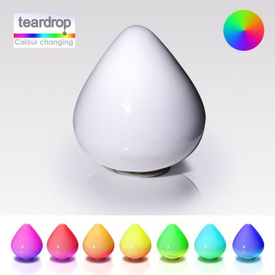 Glass Colour Changing LED Light: MATHMOS TEARDROP
