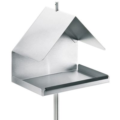 Outdoor Stainless Steel Bird Feeder House: BLOMUS NIDO
