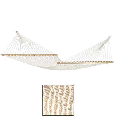 North American Style Kingsize (XL) Hammock with Bars: VIRGINIA ÉCRU