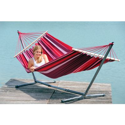 Outdoor/Indoor Hammock with Bars & Stand: SUMMERSET