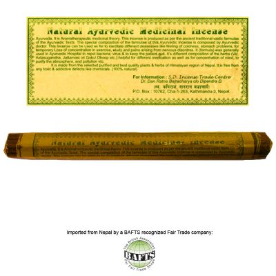 Fair Trade Ritual Tibetan Incense: NATURAL AYURVEDIC MEDICINAL
