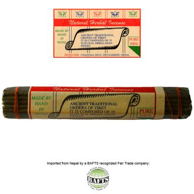 Fair Trade Tibetan Incense: NATURAL HERBAL