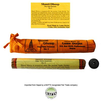 Fair Trade Organic Tibetan Incense: SHANTI DHOOP DAYTIME