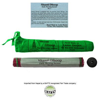 Fair Trade Organic Tibetan Incense: SHANTI DHOOP MORNING