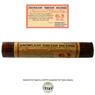 Fair Trade Ritual Tibetan Incense: SNOWLION SPECIAL QUALITY