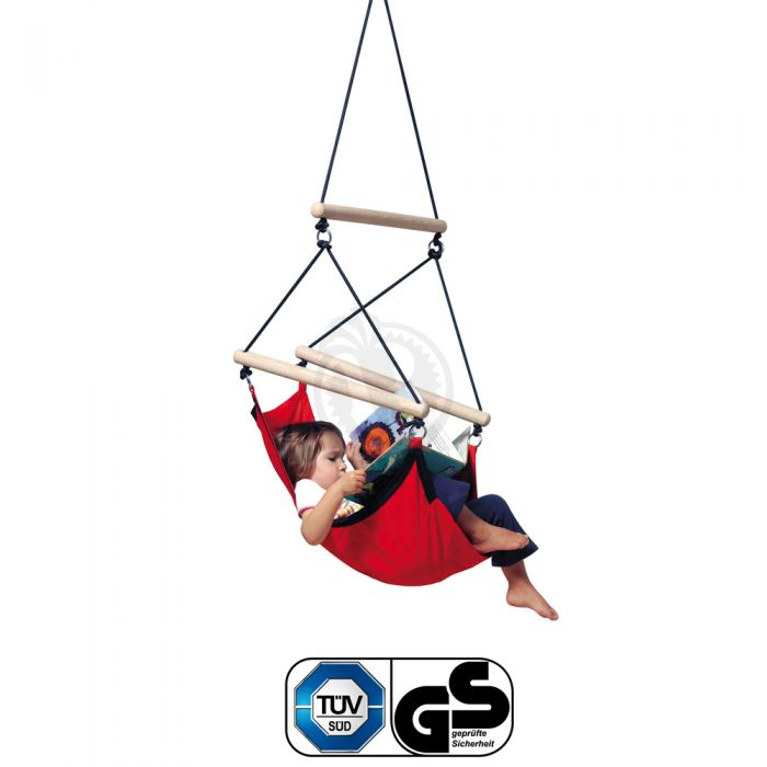 Wondrous Kids Swinger Red Hanging Chair For Kids Bralicious Painted Fabric Chair Ideas Braliciousco