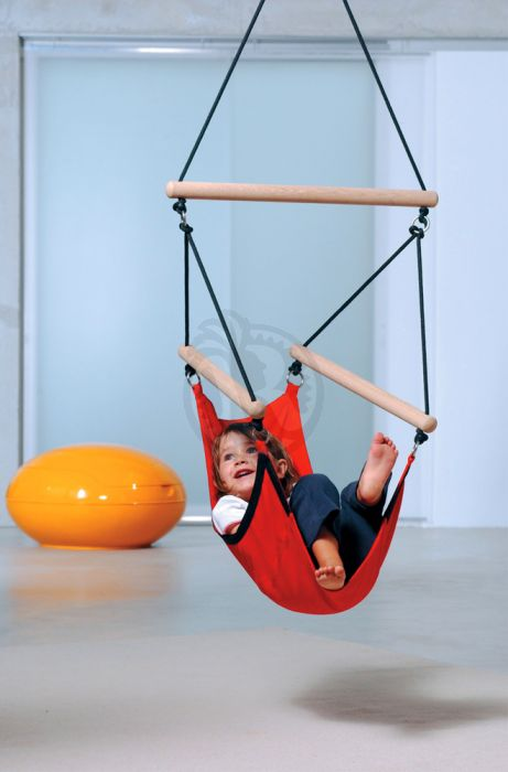Peachy Kids Swinger Red Hanging Chair For Kids Pabps2019 Chair Design Images Pabps2019Com